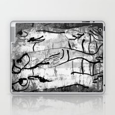 blank & white fishes Laptop & iPad Skin
