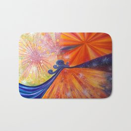 Journey oft the snail up the mountain Bath Mat