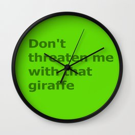 Green Butcher's Quote  Wall Clock