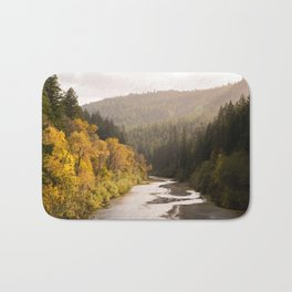 Humboldt County Fall Colors, Autumn Decor, Redwoods, Avenue of the Giants California Photography  Bath Mat