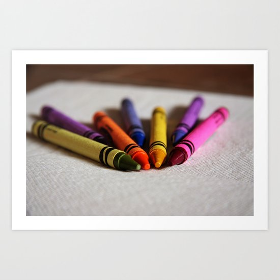 Crayon Love - Ready Set Create Art Print