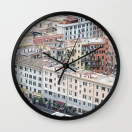 View of Color in Rome, Italy Wall Clock