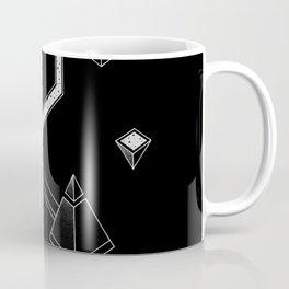 Black Space Pyramids Coffee Mug