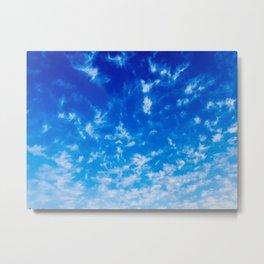 Whispy Clouds Metal Print