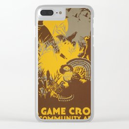 Vintage poster - Game Crop Clear iPhone Case