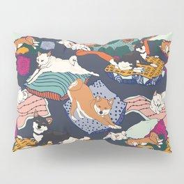 Lounging Shibas Pillow Sham