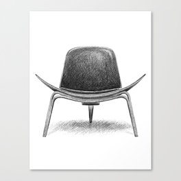 Hans Wegner CH07 Chair Canvas Print