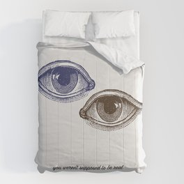 Eyes Both Brown and Blue Comforters