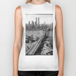 Looking NW Towards Manhattan / Twin Towers Biker Tank