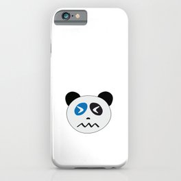 Panda Bear Confounded Face iPhone Case