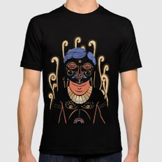 Indian Man Black MEDIUM Mens Fitted Tee