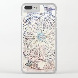 Mandala for Winter Clear iPhone Case