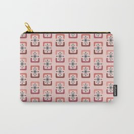 Mid Century Modern Starburst Shells Pink Carry-All Pouch