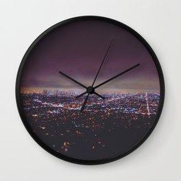 Smokey Skyline Wall Clock