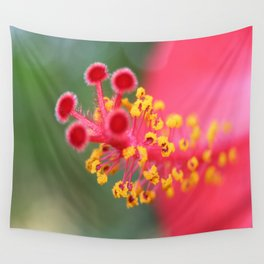 Macro Close Up Of Hibiscus Pollen  Wall Tapestry