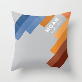 The colors of climbing spots - MOAB Throw Pillow