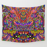 chaos Wall Tapestries featuring chaos by Mackenzie Leigh