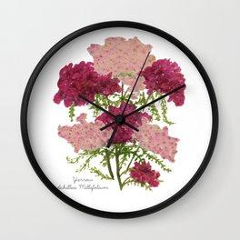 Yarrow: Achillea Millefolium Wall Clock