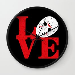 LOVE Friday the 13th Wall Clock