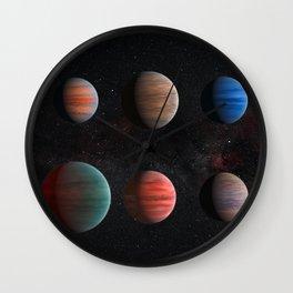 Planets : Hot Jupiter Exoplanets Wall Clock