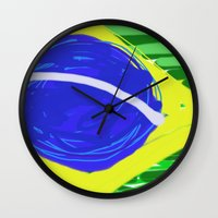 brasil Wall Clocks featuring BRASIL by Fabiano ART