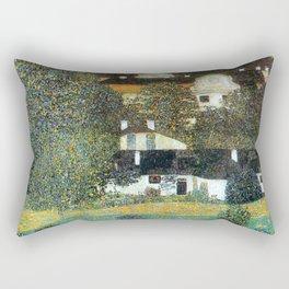 """Gustav Klimt """"Schloss Kammer on the Attersee II"""" Rectangular Pillow"""