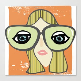 My, what big eyes you have! Canvas Print