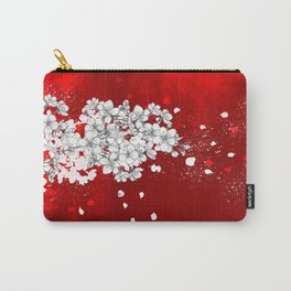 Red skies and white sakuras Carry-All Pouch
