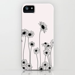 Daisy flowers illustration - Natural iPhone Case