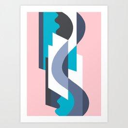 SUISSE - Art Deco Modern: MIAMI DECO Art Print