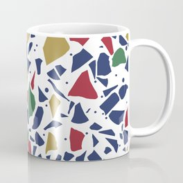 Terrazzo Spot Color on White Coffee Mug