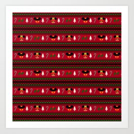 Christmas Sweater Pattern Art Print