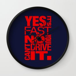 Yes it's fast No you can't drive it v5 HQvector Wall Clock