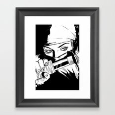 Ninja Girl Framed Art Print