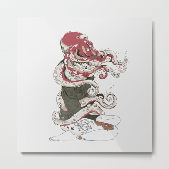 My head is an octopus Metal Print