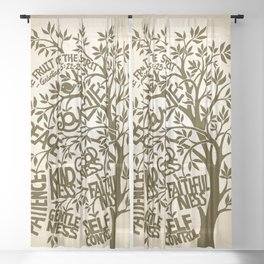 Fruit of the Spirit (Monotone) Sheer Curtain