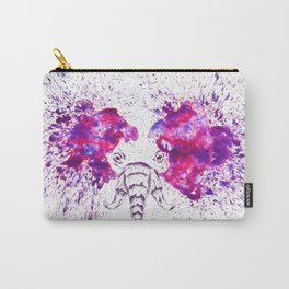 Purple Is The New Elephant Carry-All Pouch