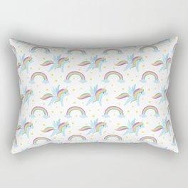 Cute abstract magical pink rainbow unicorn pattern Rectangular Pillow