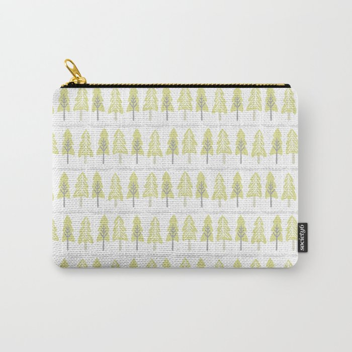 Pastel Christmas Trees Carry-All Pouch