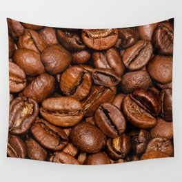 Shiny brown coffee beans Wall Tapestry