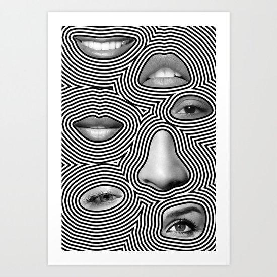 Silver Abuse Art Print