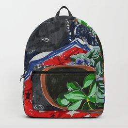 Plant Shrine with Handkerchiefs Backpack