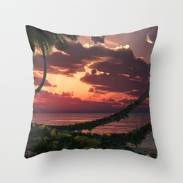 Painted Sky Throw Pillow