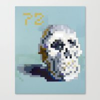 8bit Canvas Prints featuring 8Bit Skull by Delton Demarest