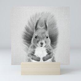 Squirrel 2 - Black & White Mini Art Print