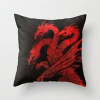 dragons Throw Pillows featuring Dragons by Narwen