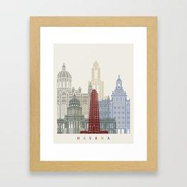 Havana V2 skyline poster Framed Art Print