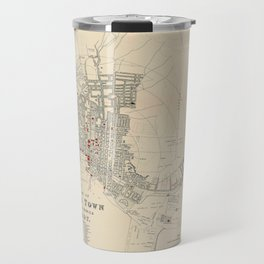 Map Of Capetown 1897 Travel Mug