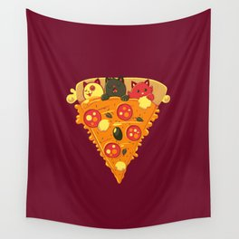 Pizza Cat Wall Tapestry