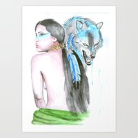 indie Art Prints featuring Indie by Tamara Kajper